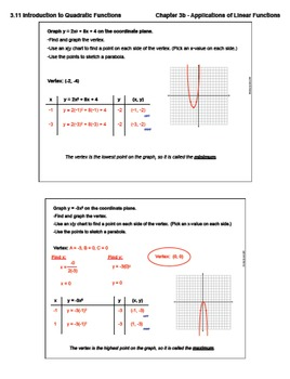 Introduction to Quadratic Functions (Lesson Plan with ...