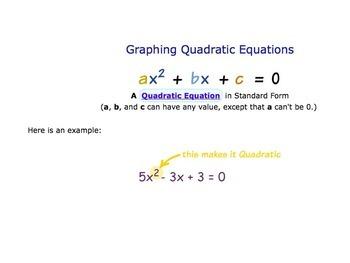 Intro to Quadratic Functions Notes