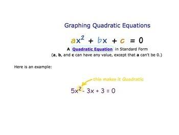 Intro to Quadratic Functions Notes