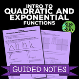 Quadratic and Exponential Functions Guided Notes