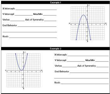 Intro to Quadratics Notes and HW