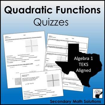 Quadratics Quizzes (A6A, A7A, A7C)