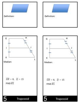 Quadrilaterals Mini Flip Book for Interactive Notebook