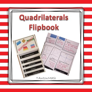 Quadrilaterals Mini Flip Book for Interactive Notebook