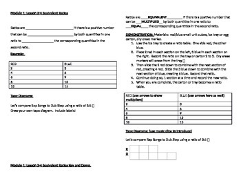 Intro to Ratio Tables, Notes and Demo M1 L3 and 4
