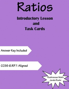 Intro to Ratios Mini Lesson and Task Cards Freebie!