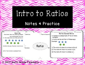Introduction to Ratios Notes and Practice Resources