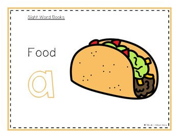 Intro to Reading Sight Word - A (Food) *TEACHER EDITION*