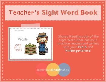 Intro to Reading Sight Word - A (People) *TEACHER EDITION*