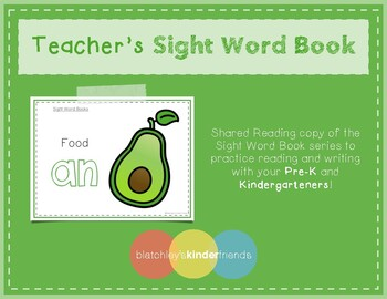 Intro to Reading Sight Word - AN (Food) *TEACHER EDITION*