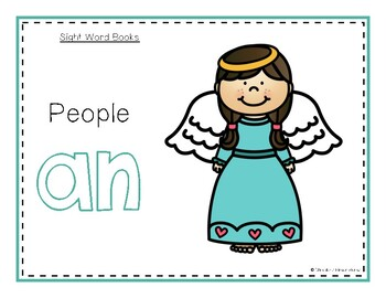 Intro to Reading Sight Word - AN (People) *TEACHER EDITION*