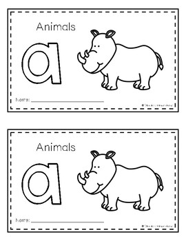 Intro to Reading Sight Word Books - A (Animals)