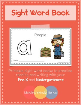 Intro to Reading Sight Word Books - A (People)