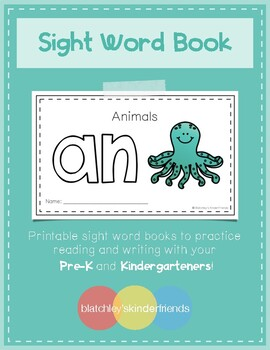 Intro to Reading Sight Word Books - AN (Animals)