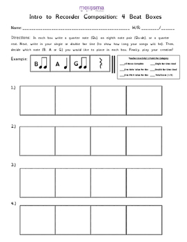 FREE! Intro to Recorder Composition