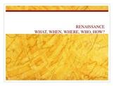 Intro to Renaissance Powerpoint