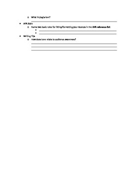 Intro to Research Papers Webquest