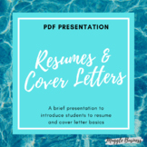 Intro to Resumes and Cover Letters PDF Presentation