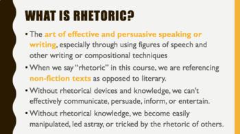 Intro to Rhetoric PPT