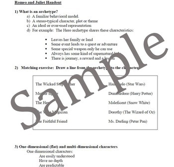 Intro to Romeo and Juliet Movie and Handout