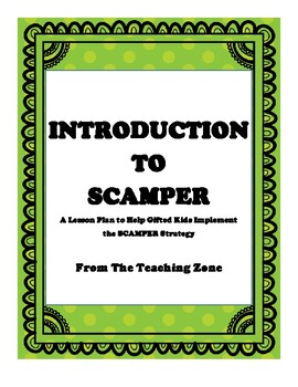 Intro to SCAMPER Guide Sheet