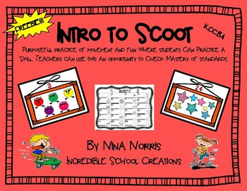 Intro to SCOOT!!! FREEBIE!!!