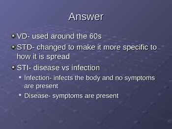 Intro to STIs.