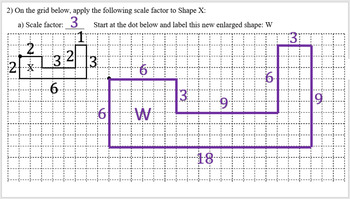 Intro to Scale Factor: Hands On Enlarging Shapes Lesson with Optional Assignment