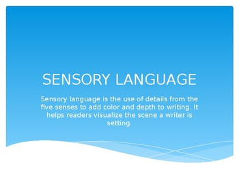 Intro to Sensory Language Presentation