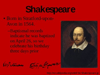 Intro to Shakespeare and Elizabethan Plays