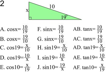 Sine, Cosine & Tangent 3 Study Guides & 13 Assignments for Power Point