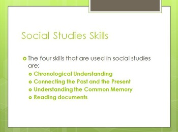 Intro to Social Studies Skills PowerPoint Lesson