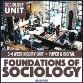 Intro to Sociology Foundations Unit Print & Digital
