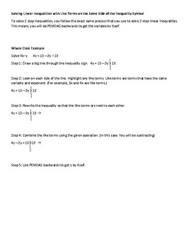 Intro to Solving Linear Inequalties