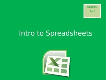 Intro to Spreadsheets