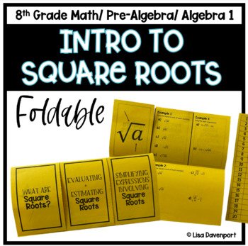 Intro to Square Roots (Foldable)