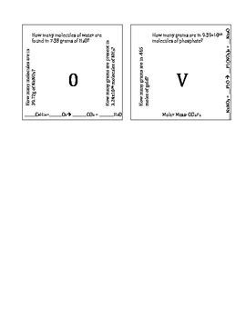 Intro to Stoichiometry Puzzle Version A