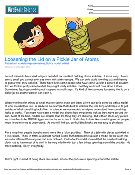 Intro to Structure of Matter, A Pickle Jar of Atoms - Engaging Science Reading