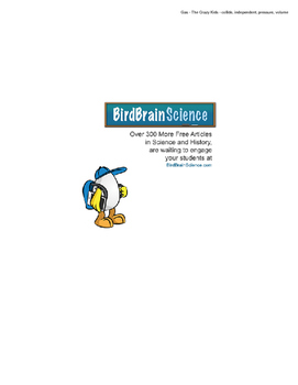 Intro to Structure of Matter, Gas - The Crazy Kids - Engaging Science Reading