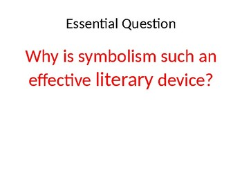 Intro to Symbolism PPT