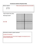Intro to Systems of Equations Notes