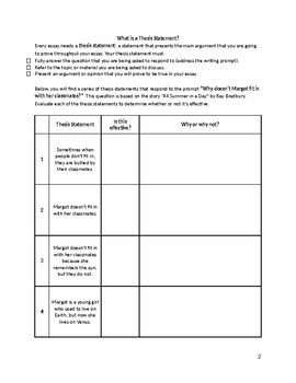 Intro to TIED: Evidence-Based Writing Structure