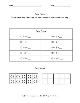 Tens Facts: Practice and Assessment