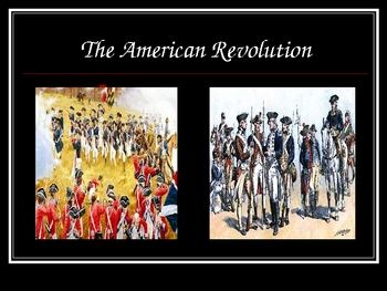Intro to The American Revolution