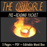 The Crucible Pre-Reading Packet