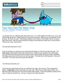 Intro to The Earth System, Your Very Own Pet Water Drop-Engaging Science Reading