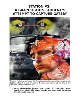 """Intro to The Great Gatsby """"Flow"""" Activity"""