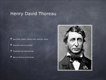 Intro to Transcendentalism PowerPoint