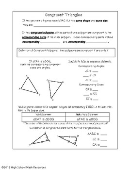 Intro to Triangle Congruence and CPCTC