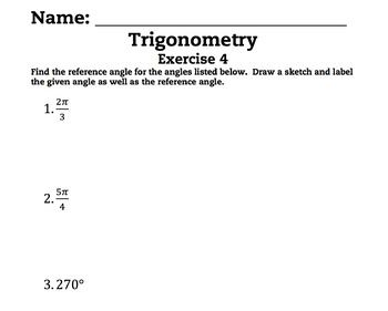 Intro to Trig Complete Bundled Unit Lessons 1-6
